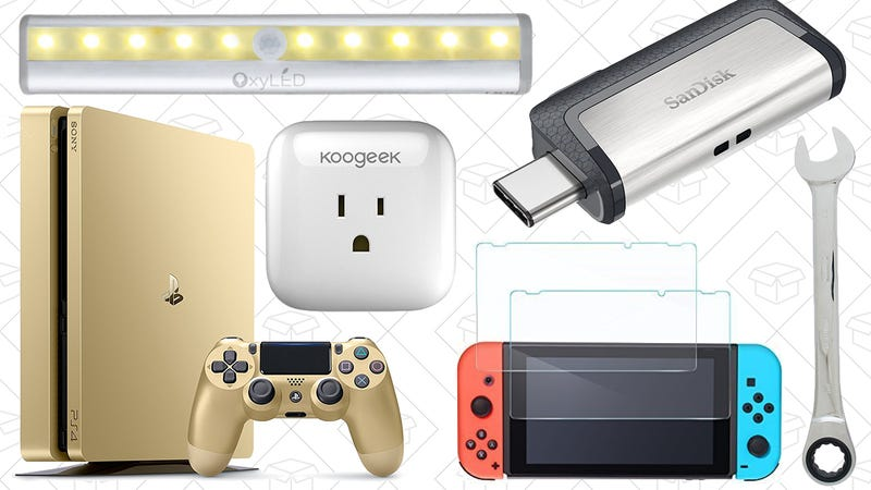 Illustration for article titled Today's Best Deals: SanDisk Flash Storage, Mechanics Tool Sets, Motion-Sensing Night Lights, and More