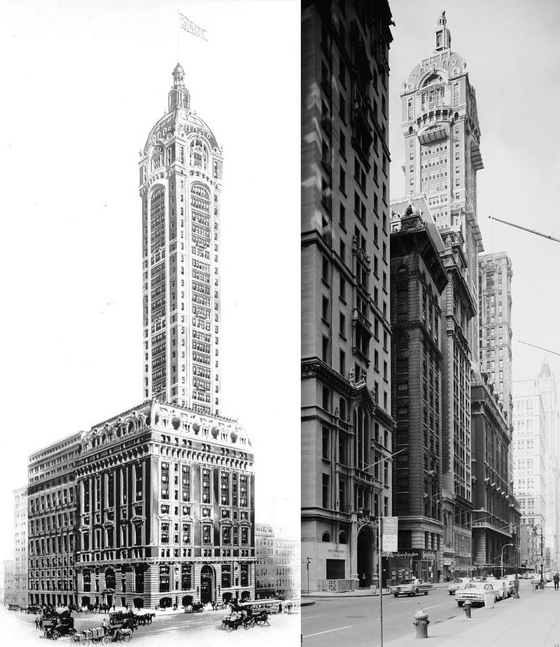 Illustration for article titled Ilyen furcsán nézett ki a világ legmagasabb lebontott felhőkarcolója