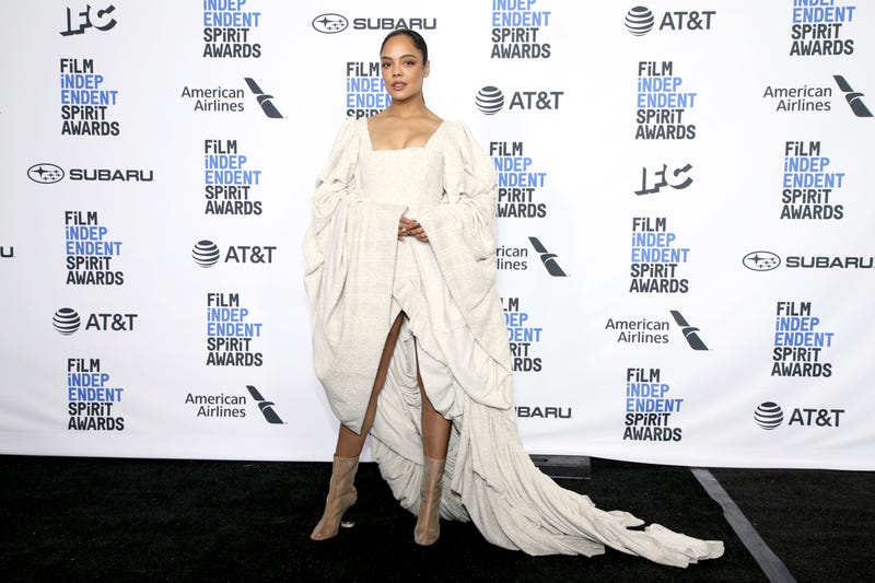 Tessa Thompson poses in the press room during the 2019 Film Independent Spirit Awards on February 23, 2019 in Santa Monica, California.