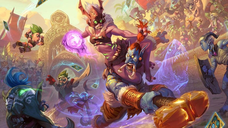 Illustration for article titled Everything You Need To Know About Hearthstone's Next Expansion, Rastakhan's Rumble