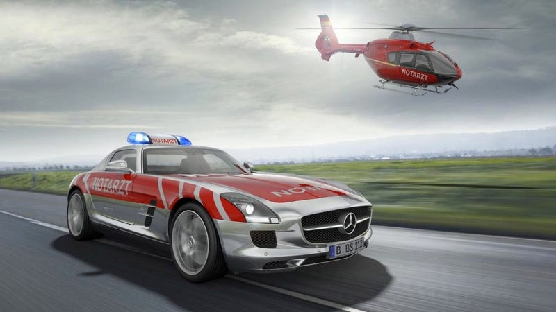 Illustration for article titled A Mercedes-Benz SLS AMG for EMTs