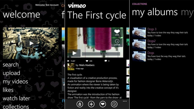 Illustration for article titled Official Vimeo App Brings Mobile Uploads to Your Windows Phone