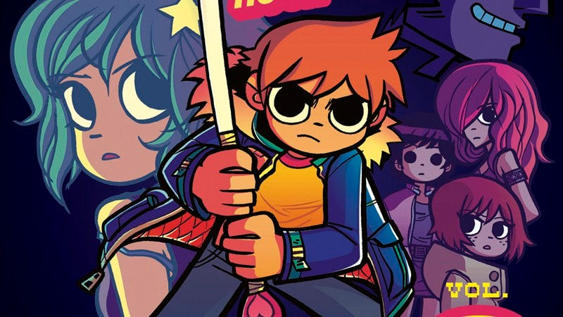 Illustration for article titled Bryan Lee O'Malley walks through the newly colored Scott Pilgrim series
