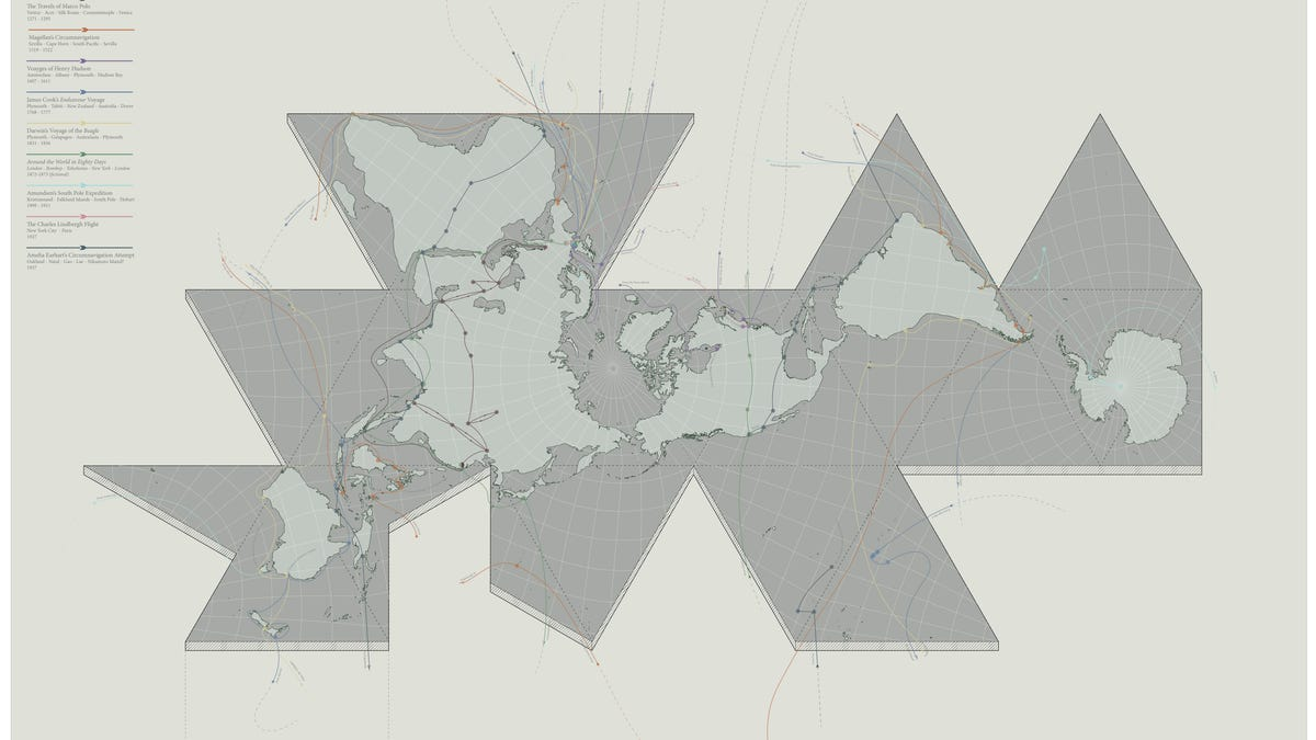 7 brilliant reinventions of buckminster fullers dymaxion map gumiabroncs Images