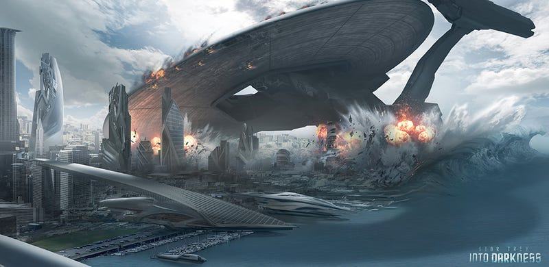 Illustration for article titled Stunning Star Trek Into Darkness concept art shows starships at war