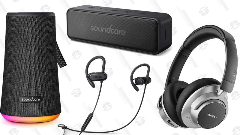Anker SoundCore Space NC Headphones | $69 | AmazonAnker SoundCore Spirit X Headphones | $28 | AmazonAnker SoundCore Motion B Portable Bluetooth Speaker | $24 | Amazon |  Clip the 5% couponAnker SoundCore Flare+ Bluetooth Speaker with Light Show | $70 | Amazon