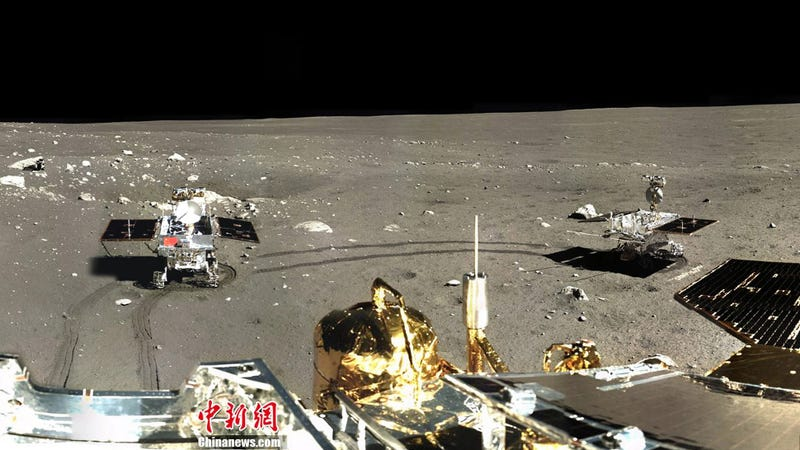 Illustration for article titled The first timelapse color panorama of China's lunar Rover