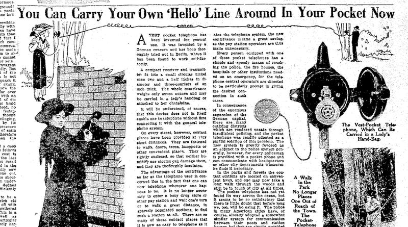 """""""Pocket Telephones"""" Made for Cheap Calling All the Way Back in 1910"""