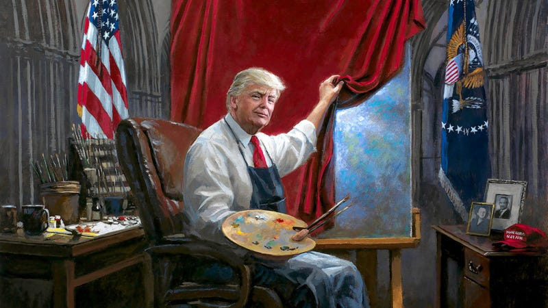 Illustration for article titled What's Going On In This Donald Trump Fan Art?