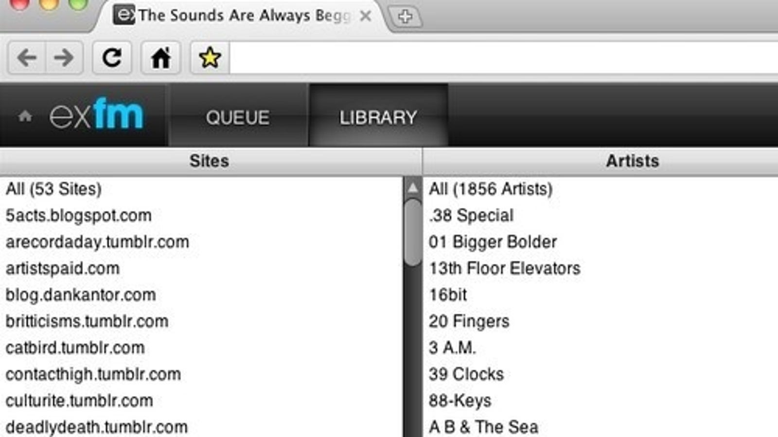 ExtensionFM Turns the Web into Your Personal Music Library