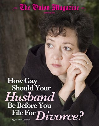 Illustration for article titled How Gay Should Your Husband Be Before You File For Divorce?