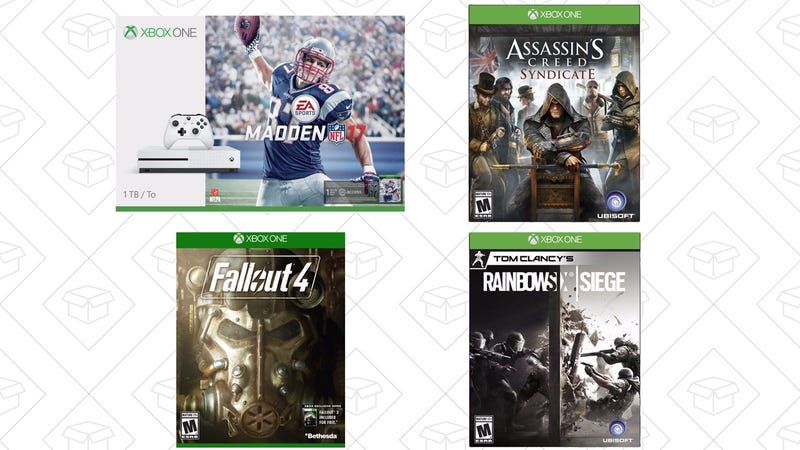 Xbox One S + Fallout 4 + Assassin's Creed Syndicate + Rainbow Six Siege, $370