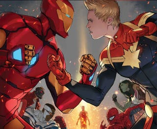 The cover to Civil War II #1 by David Marquez.