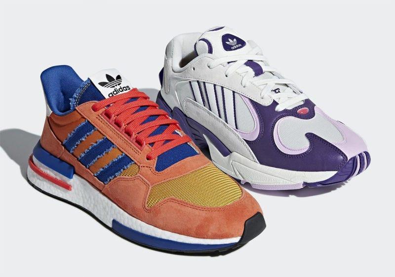 Illustration for article titled Dragon Ball ya tiene sus dos primeras zapatillas deportivas Adidas: Goku y Frieza
