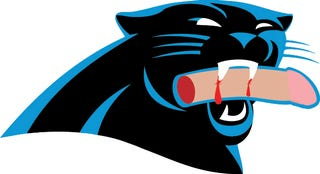 Illustration for article titled Nation Horrified By Carolina Panthers' Disturbingly Graphic Logo Redesign