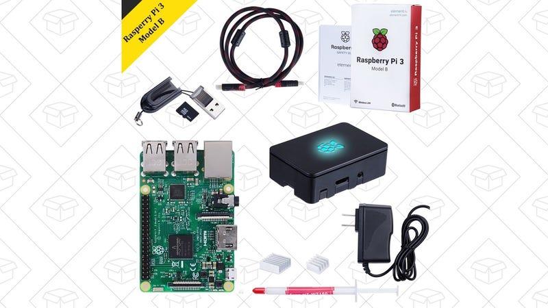 Raspberry Pi 3 Model B Starter Kit, $61 with code U34S5G2S