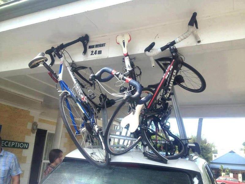 Illustration for article titled lol- Roof bike racks owners beware.