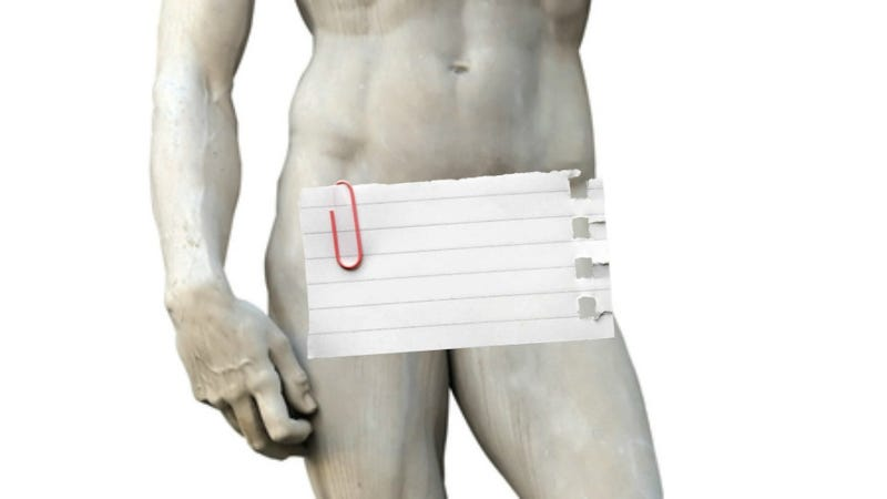 """Illustration for article titled Male Nude Art History Features A Lot of """"Put A Fig Leaf Over That Shit"""""""