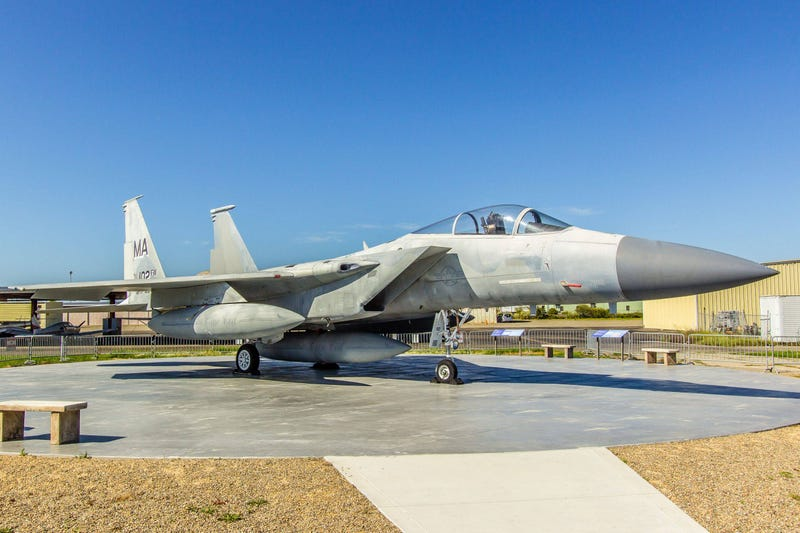 One of the F-15s scrambled from Otis AFB on 9-11 now sits at a museum.