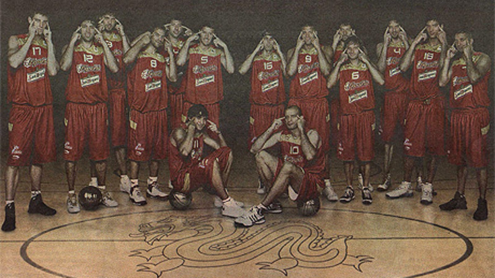 f2b6155d2fe Spanish Basketball Team Celebrates Trip to China With Slant-Eye Team Photo