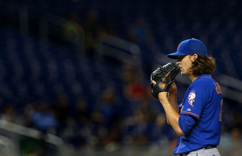 Illustration for article titled Jacob DeGrom Ks Eight To Open Game, Tying Modern-Era Record