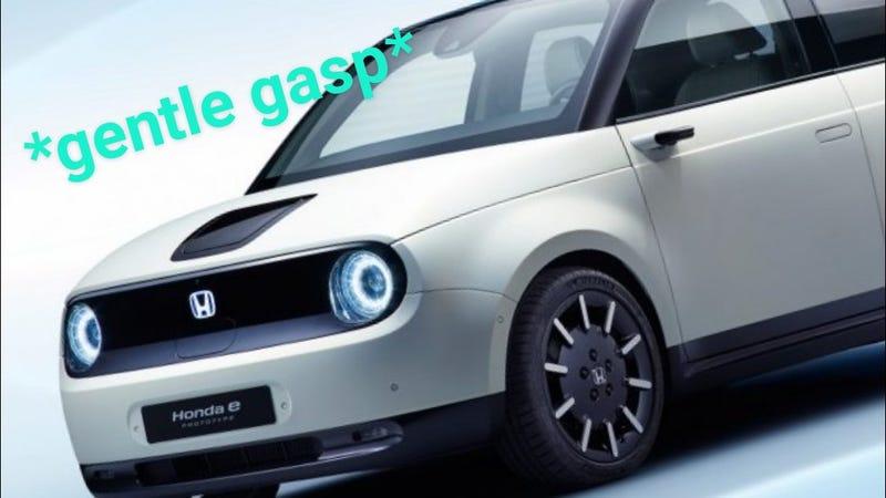 Illustration for article titled Honda e prototype notices u staring