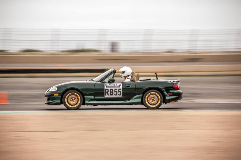 Illustration for article titled Finally got a good shot of me racing the Miata