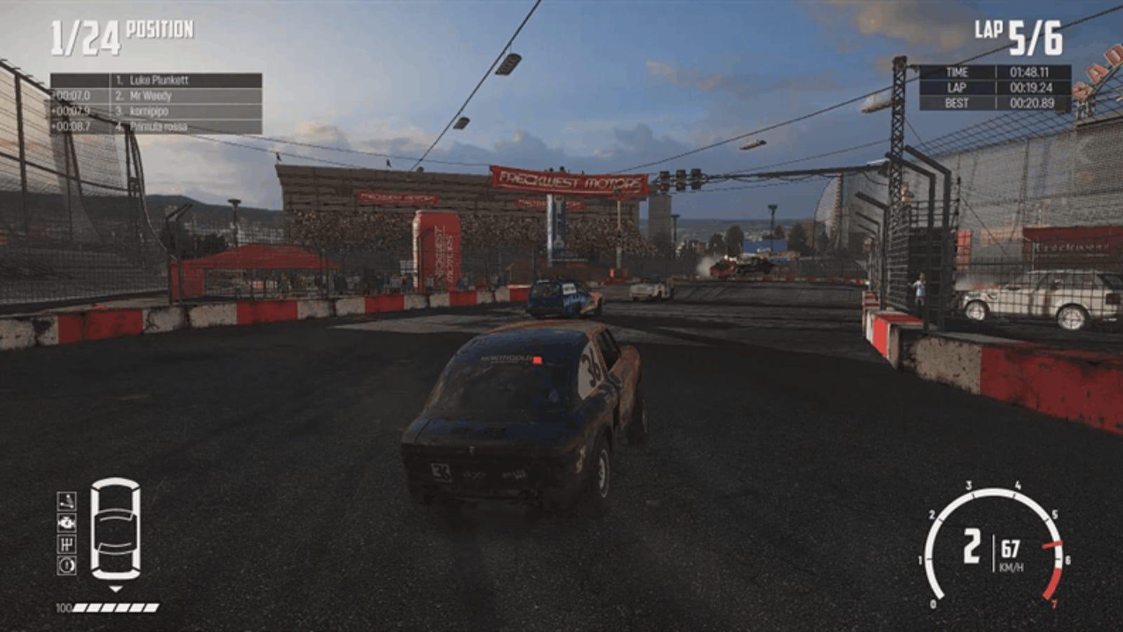 wreckfest is murder disguised as a racing game
