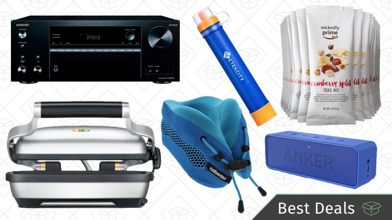 Illustration for article titled Saturday's Best Deals: Anker SoundCore, Trail Mix, CabeauTravel Pillows, and More