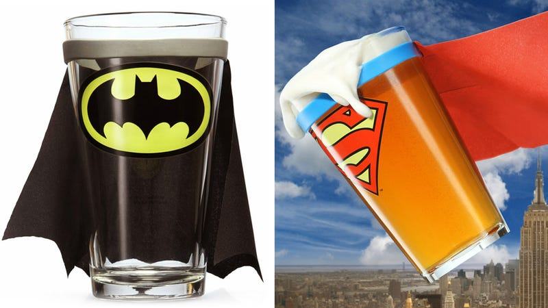 Illustration for article titled Caped Pint Glasses Will Only Add To Your Drunken Delusions of Being a Superhero