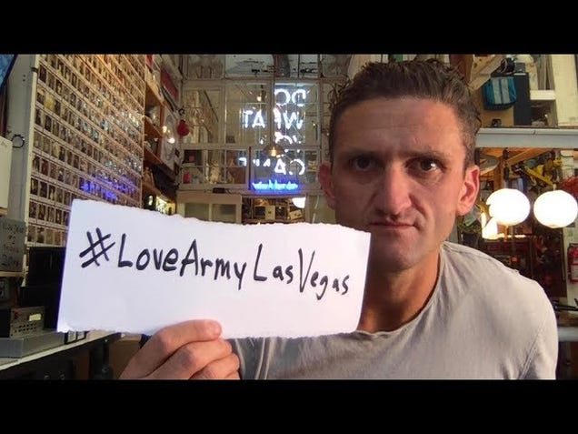 YouTube Videos About Las Vegas Massacre Blocked From Making Money, and Casey Neistat Got Pissed