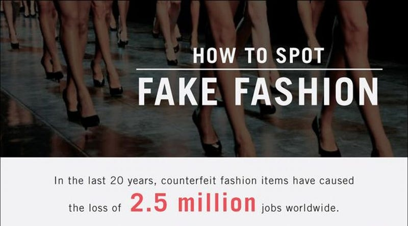 Illustration for article titled Spot Fake Fashion Items With This Infographic