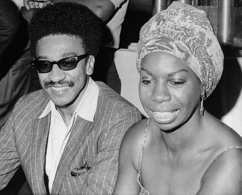 Nina Simone with H. Rap Brown in 1967 (B.J./AP Images)