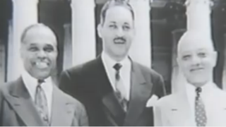 James Nabrit Jr., Thurgood Marshall and George E.C. Hayes after their victory in the Brown v. Board of Education caseYouTube screenshot