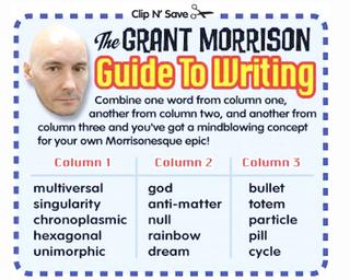 Handy chart explains how to write like Grant Morrison