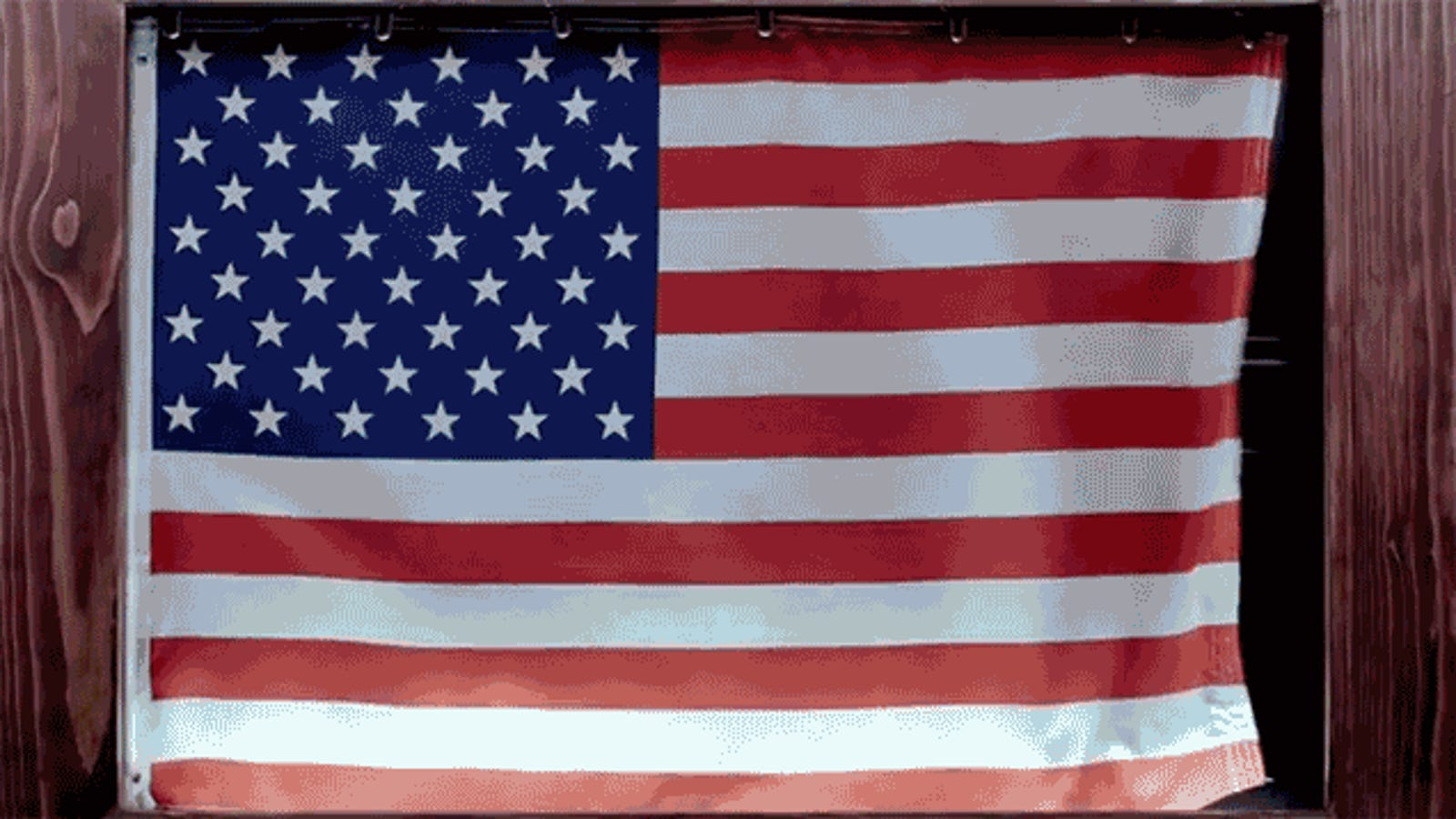 real patriots use a flag frame that simulates it blowing in the wind