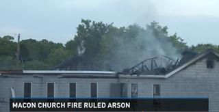 Fire at God's Power Church of Christ in Macon, Ga.WMAZ-TV