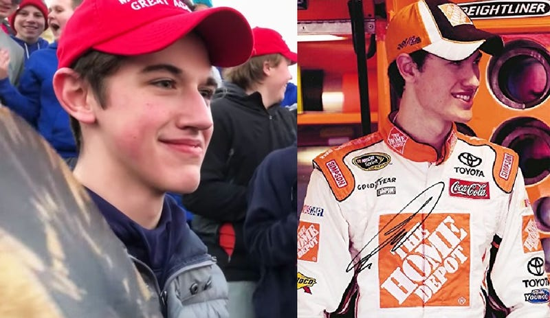 Illustration for article titled Everyone says they see a shit-eating grin. All I see is Rookie Year Joey Logano
