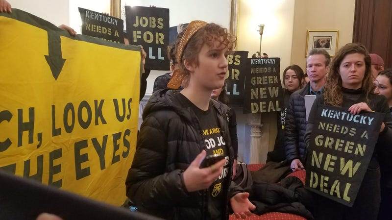 Illustration for article titled Dozens of Youth Activists Arrested After Green New Deal Protest in Mitch McConnell's Office