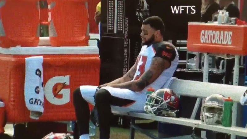 Illustration for article titled Mike Evans Sat During National Anthem To Protest Election Of Donald Trump