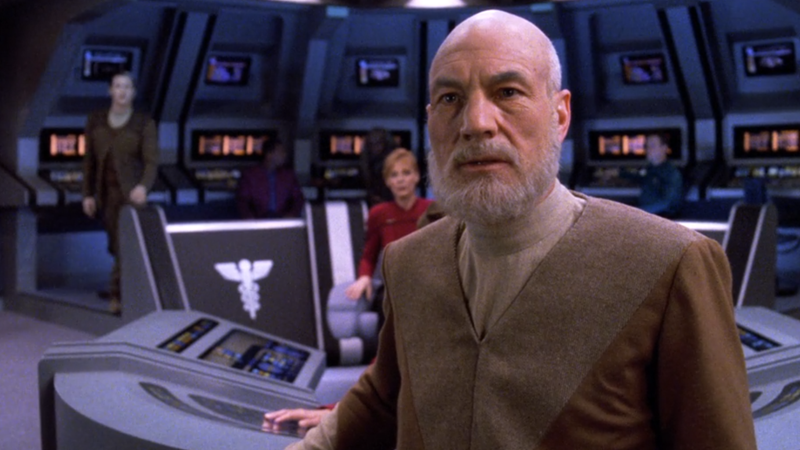 "The ""aged"" Picard of ""All Good Things""."