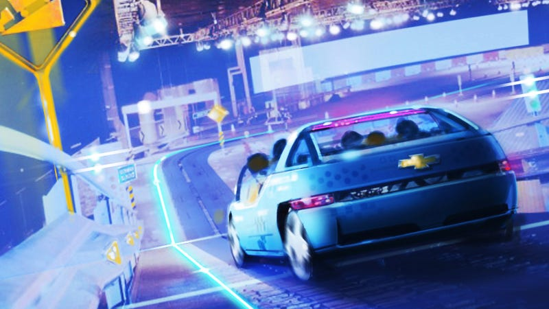 Illustration for article titled This Is The Reimagined Chevy Test Track Ride At Disney World