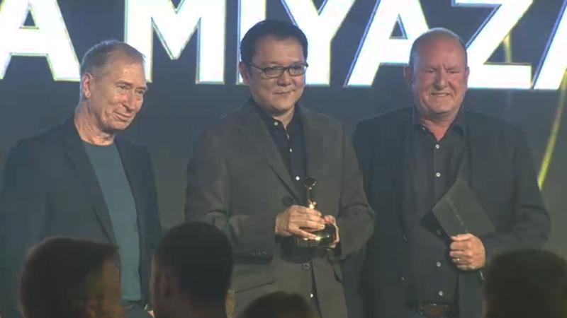 From left to right: Steve Jackson, Hidetaka Miyazaki, and Ian Livingstone