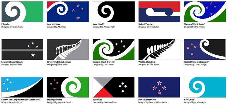 Illustration for article titled New Zealand's New Flag Will Almost Definitely Have A Fern On It
