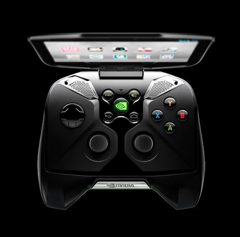 """Illustration for article titled Nvidia inaugura la locura del CES: anuncia """"Project Shield"""", una consola Android de videojuegos"""