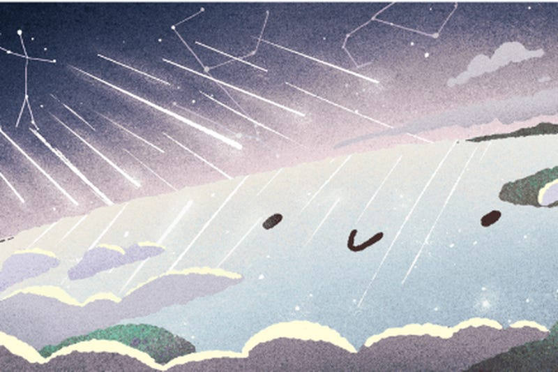 Illustration for article titled Today's Google Doodle: It's the Gemini Meteor Shower