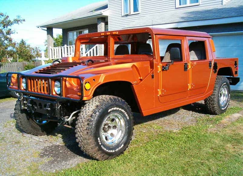 madman Ford nut is handbuilding an incredible Hummer H1 replica on