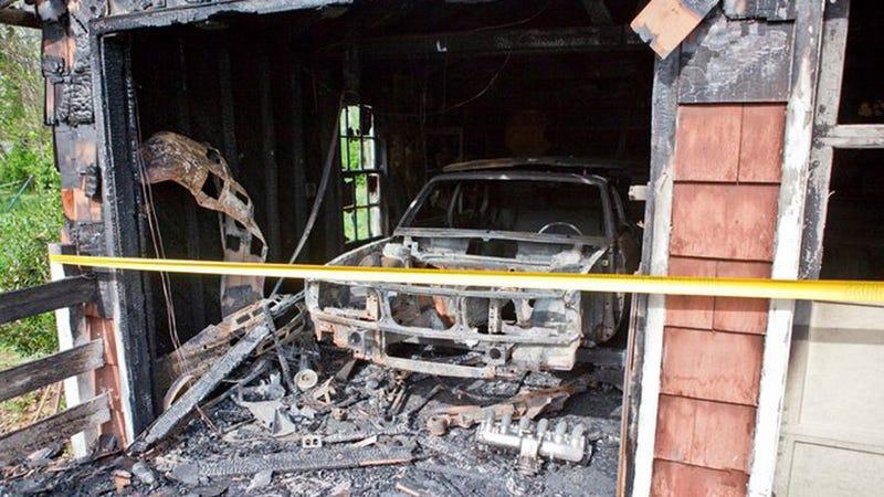 Rusty slammington destroyed in fire for Garage n4 auto duppigheim