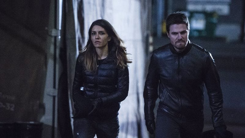 On arrow you can take oliver out of the russian mob but for The russian mod