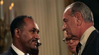 Clarence M. Mitchell Jr. and President Lyndon B. JohnsonWikimedia Commons